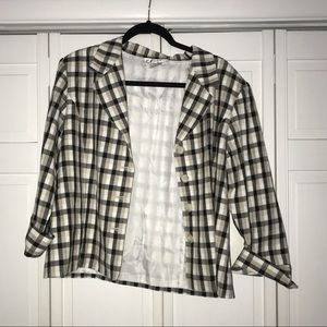 Plaid Summer Blazer